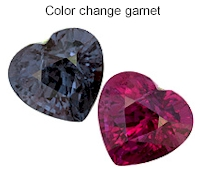 Color change garnet